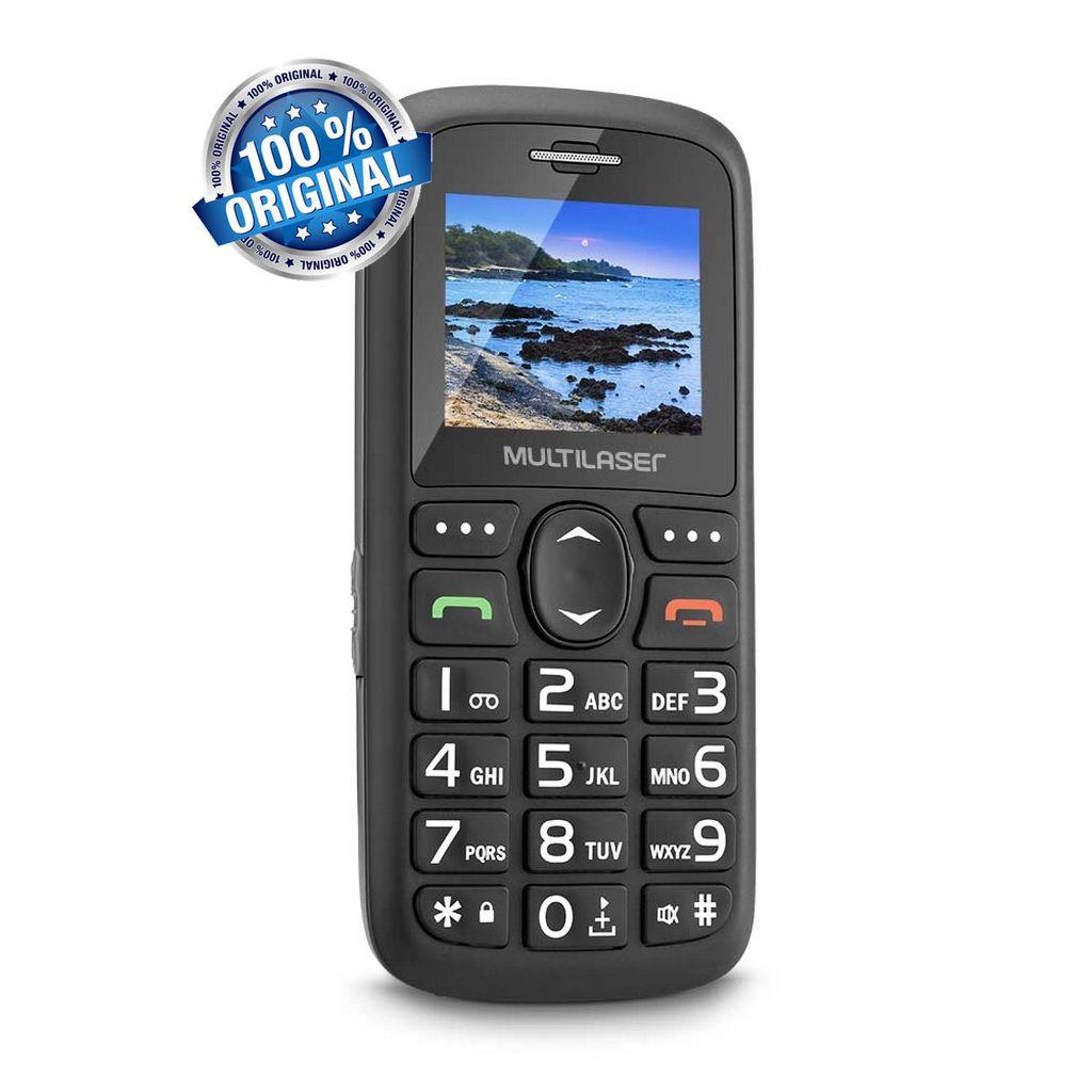 Telefone Celular Vita Dual Chip USB e Bluetooth Tela 1,8 Pol. Rádio Mp3 Tecla Grande Vovô Multilaser P9048