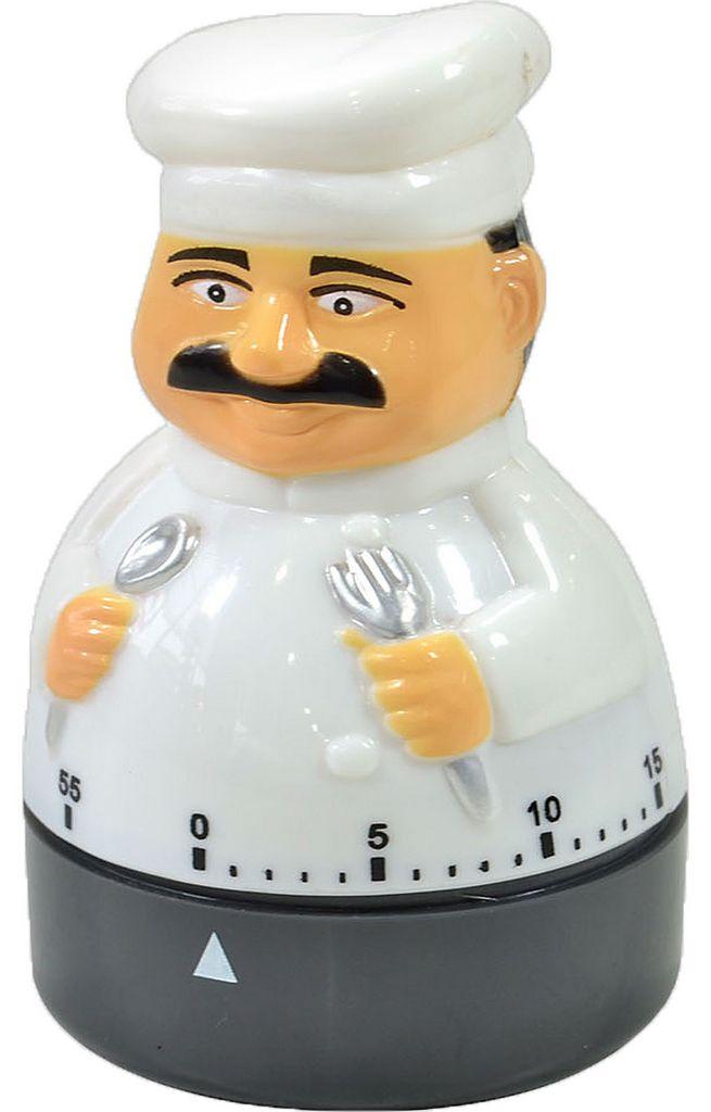 Temporizador Timer Cozinha Manual Formato Cozinheiro KEHOME