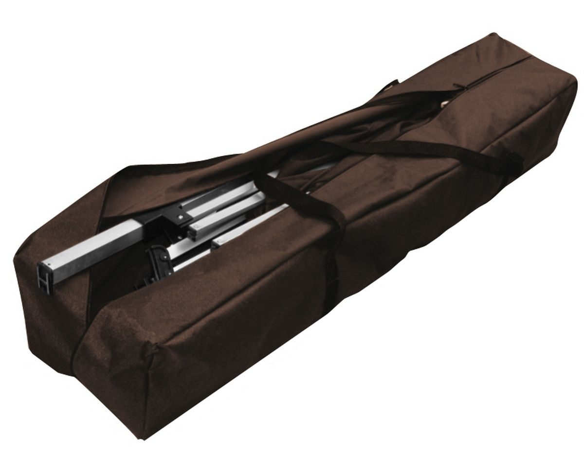 Tenda Gazebo 3x3 Poliéster Dobrável Alumínio Marrom Belfix