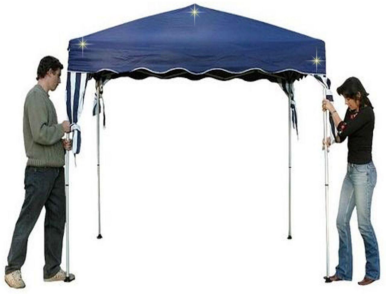 Tenda Gazebo 3x3m Dobrável Alumínio E Poliester Azul Belfix