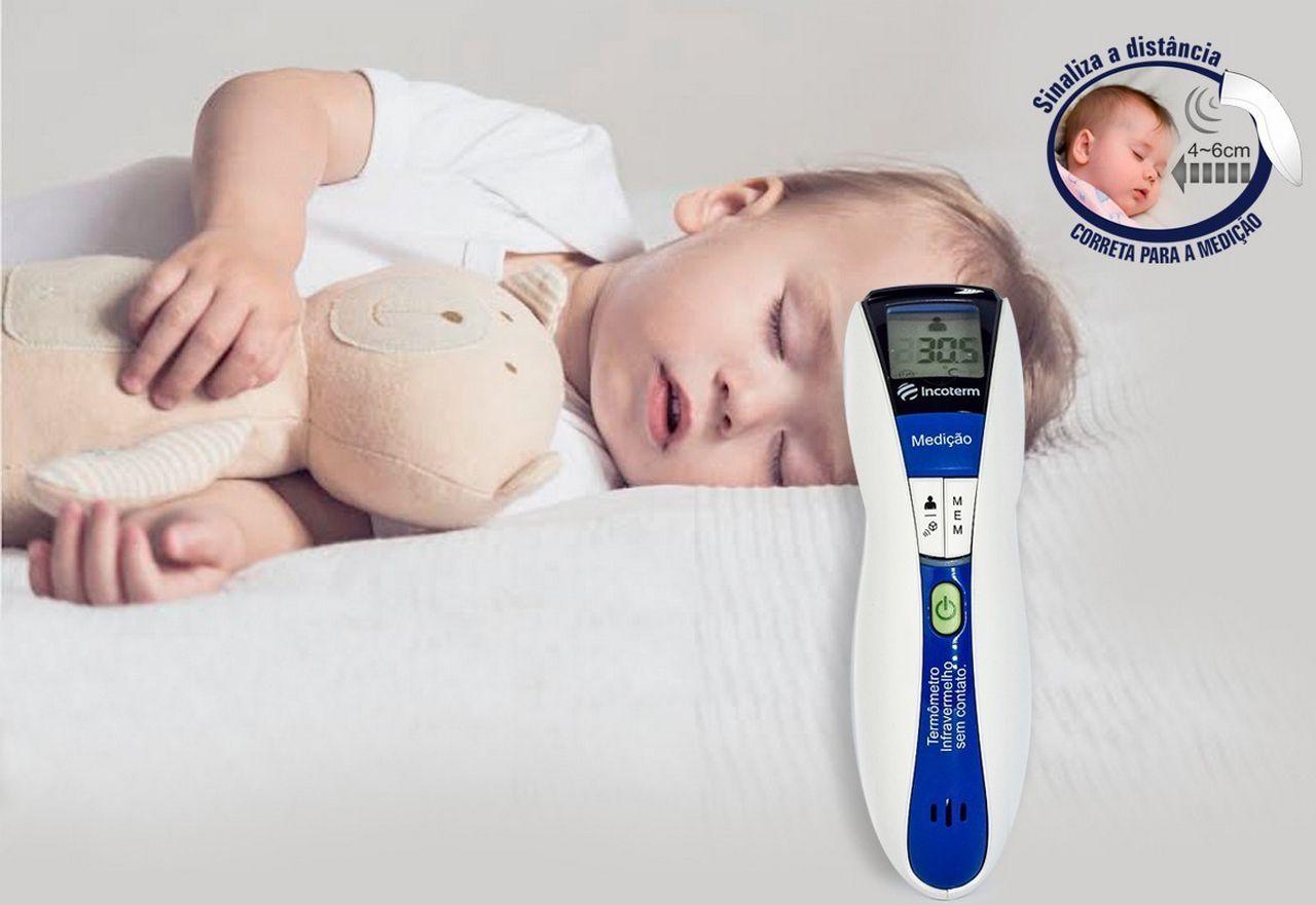 Termometro De Testa Infravermelho Digital Portátil Lcd Sem Contato Corporal Infantil Adulto Febre Temperatura Sensor Visor Clínico Incoterm