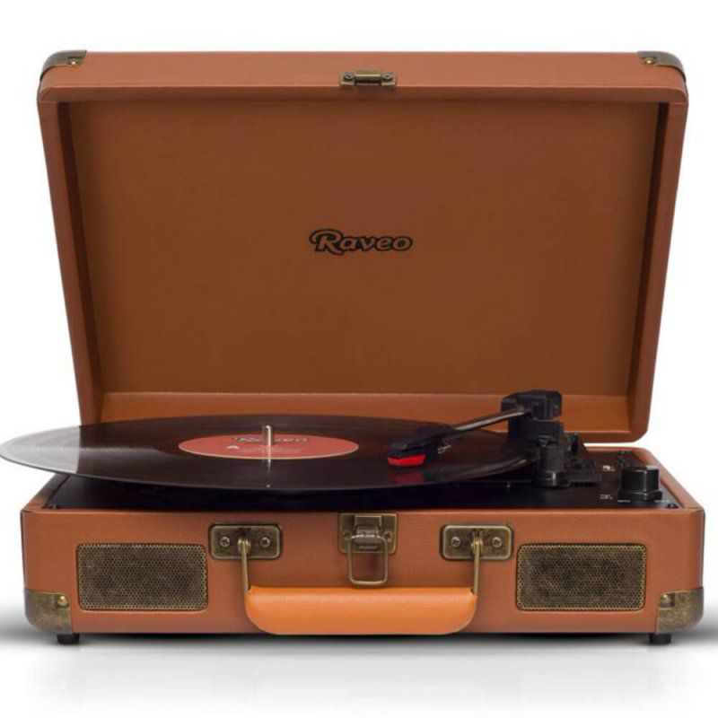 Toca Discos Raveo Sonetto Gravação Com Usb Bluetooth Marrom