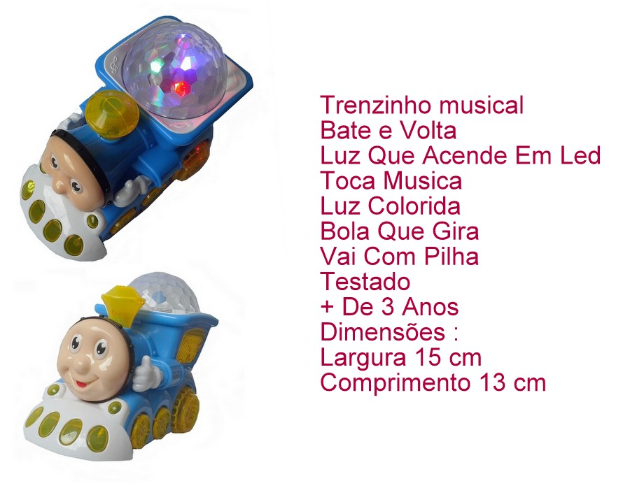 Trenzinho Infantil Thomas Musica E Luz