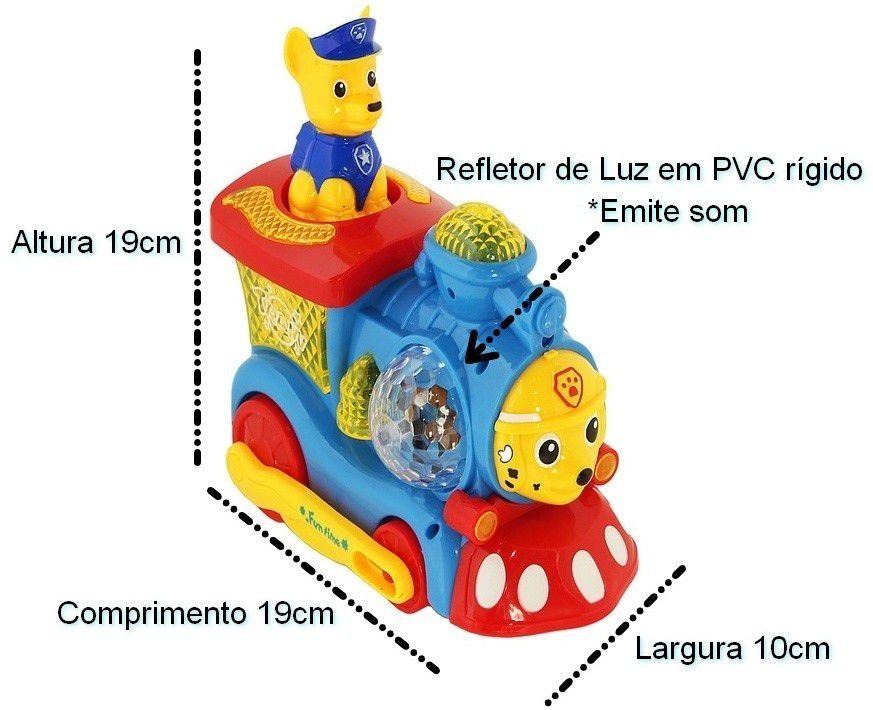 Trenzinho Patrulha Canina Brinquedo Luz a Pilha