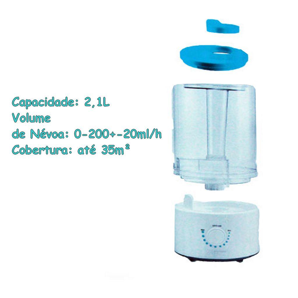 Umidificador Aromatizador De Ar Ultrassônico Infantil Adesivos Dupla Saída Multikids Baby 2,1L