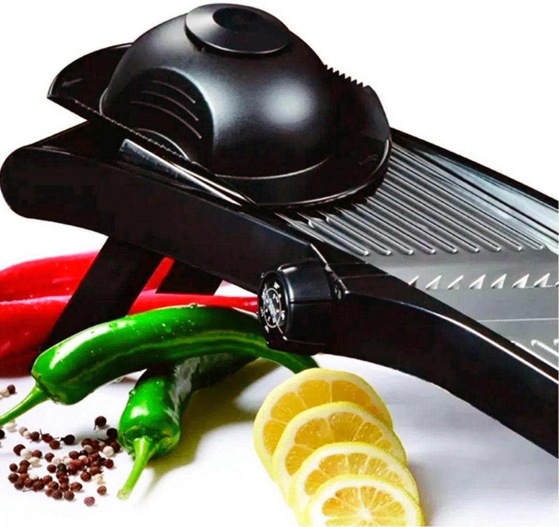 Utensílios De Cozinha Ralador Fatiador Preto Tipo Mandolim 3 Modos De Rotação Resistente Lâmina De Aço Kehome