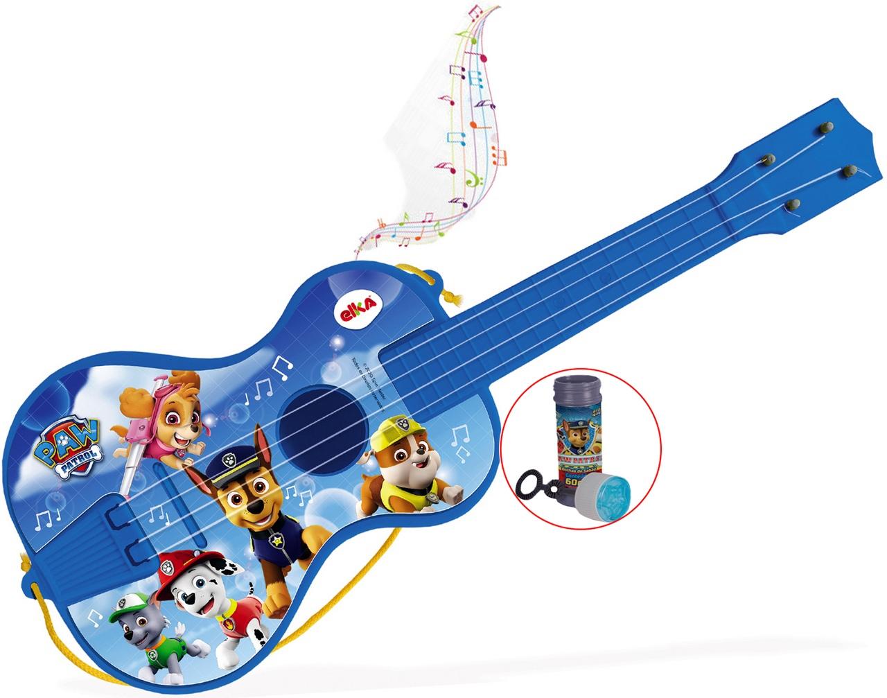 Violão Com Cordas Patrulha Canina Bolhas De Sabão Menino Instrumento Musical Infantil Brinquedo Educativo Criança Elka