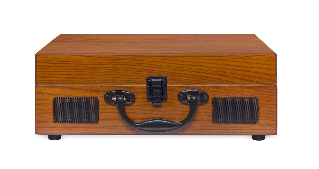 Vitrola Raveo Sonetto Wood  Madeira Com Toca-discos, Bluetooth E Usb Reproduz E Grava MP3