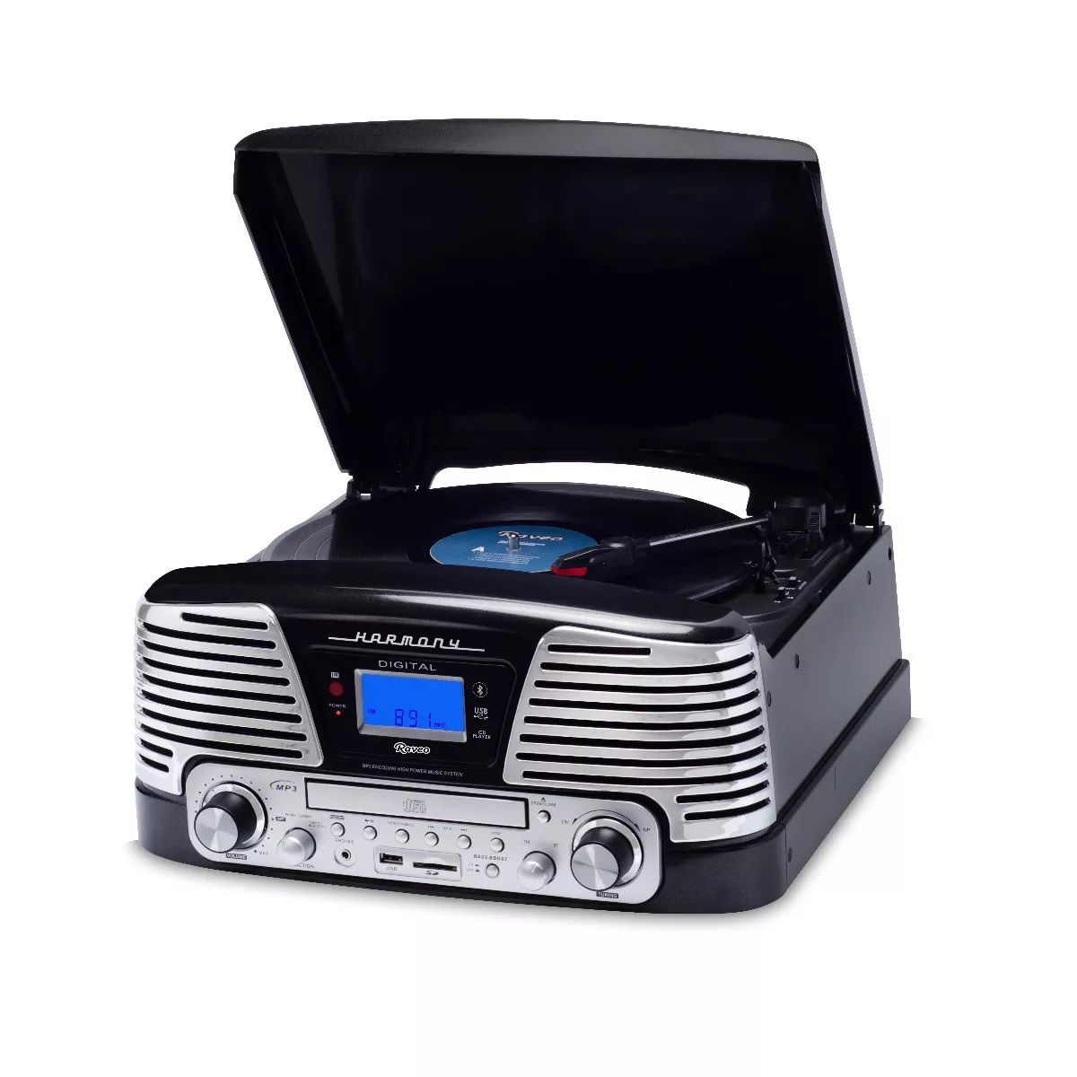 Toca Discos Harmony Raveo Grava Bluetooth/cd/fm/usb