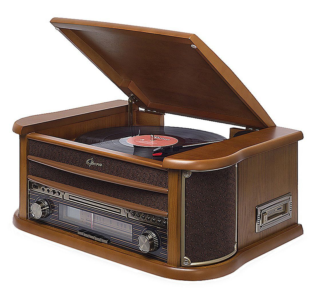 Vitrola Toca Discos Raveo Opera BT Bluetooth Usb Reproduz Grava Bivolt 10 Watts Entrada Auxiliar CD Rádio Fm Cassete Player