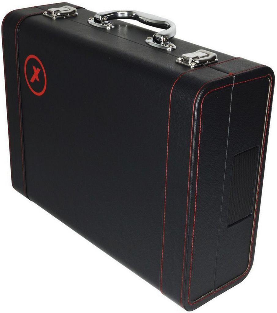 Vitrola Toca Discos Vinil Amvox AVT 1299 Retrô Bluetooth Entrada Usb Bateria Recarregável 20 Watts Bivolt Automático Preta Saída RCA Maleta Couro