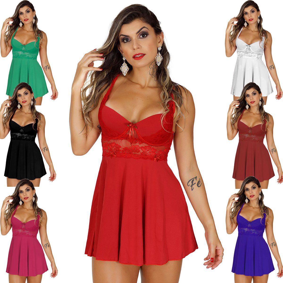 3d87e98f1 Kit com 10 Camisola de Bojo Deborah Tule - Suprema Lingerie - Moda ...