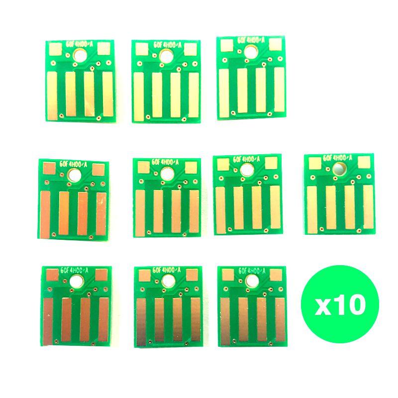 10 Chips para Toner Lexmark 604h 60f4h00 MX310 MX410 MX510 MX610 MS310 MS410 MS510 MS610 10k
