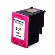 Compatível: Cartucho de tinta nacional para HP 901XL CC656A 14ML Colorido - Officejet J4540 J4550 J4580 J4660