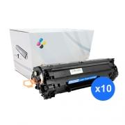 Compatível: Kit 10 Toner CF279A CF279 279A para HP M12 M26 M12A M12W M26A M26NW M12 12W 26A 26NW 1k