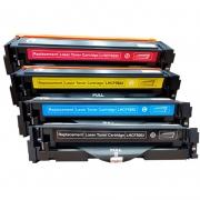 Compatível: Kit 4 Toner CF500 CF500X 501 502 503 para HP M254 M280 M281 M281FDW M254DW CMYK