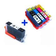 Compatível: Kit Cartucho 670XL para HP advantage 4615 4625 5525 cmyk mais preto
