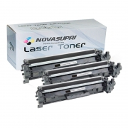 Compatível: Kit com 3 Toner Novasupri para HP CF217A CF217 17A M102 M102A M102W M130 M130FW