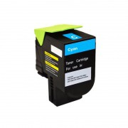 Compativel: Toner novasupri 808CK 80C8HC0 Lexmark CX 410 510 410e 410de 510dhe 510de Ciano 3k