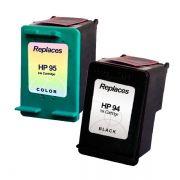 Compativel: Kit 2 Cartuchos de Tinta para HP94 para HP95 Preto e color - C4140 C4150 C4180 C1600 C1610 C2350 C2355