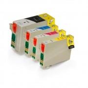 Compativel: Kit 4 Cartucho de Tinta Epson T140120 T140220 T140320 T140420