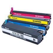 Compatível: Kit 4 Cartuchos 970XL 971XL para HP X451 X476 X476 X551 X576 CMYK