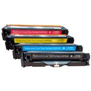 Compativel: Kit 4 Toner CF510A 511A 512A 513A para HP 204A M154 M180N M-180NW M180 M181 FW CMYK