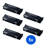 Compatível: Kit 5 Toner Samsung MLT-D204L D204 M3325ND 3375FD 3825DW 3825ND 3875FW 3875FD 4025ND 4075FW 5k