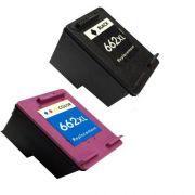 Compativel: Kit 2 Cartuchos 662XL Preto e Colorido 3516 2515 2516 3515 1516 2546 2646 3546 4646
