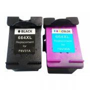 Compativel: Kit Cartucho para HP 664XL Preto e Colorido