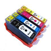 Compatível: Kit Cartucho para HP 670XL para HP CZ117AB CZ118AB CZ120AB e CZ119AB CMYK
