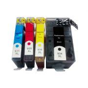 Compativel: Kit 4 Cartuchos para HP 935 XL CMY para HP 934 K para HP para OfficeJet Pro para HP 6230 para HP 6830 Modelos 934XL 935XL