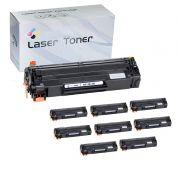 Compativel: Kit com 10 Toner Universal - CE285A CB435A CB436A 285 435 436 para HP P1102W M1132 P1005 M1120