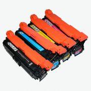 Compatível: Kit Toner para HP CE400X CE401A CE402A CE403A M551N M575F M575C M570DN M551DN