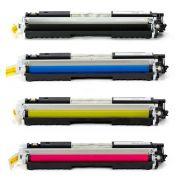 Compatível: Kit 4 Toner 130A CF350A CF351A CF352A CF353A M176N M177FW para HP Compatíveis