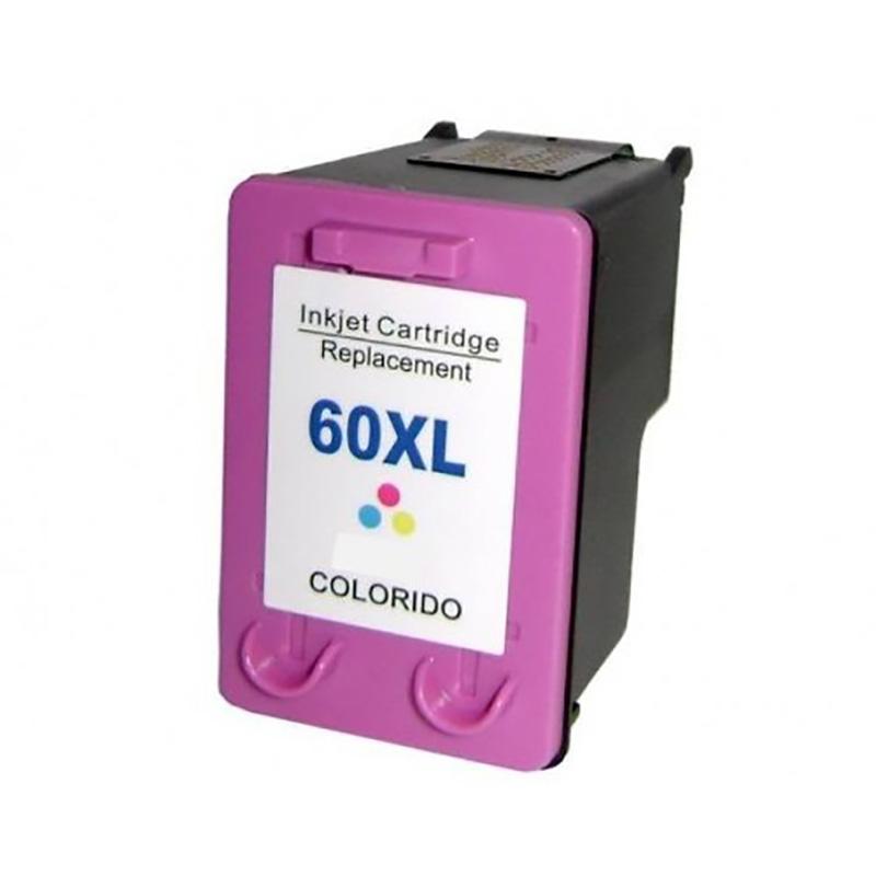 Compativel: Cartucho de tinta novasupri para HP 60XL CC644W 12ML Colorido - Deskjet F4480