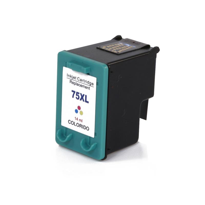 Compativel: Cartucho de tinta novasupri para HP 75XL CB338W 14ML Colorido - Deskjet D4260 Photosmart C4280 C4480 C5280