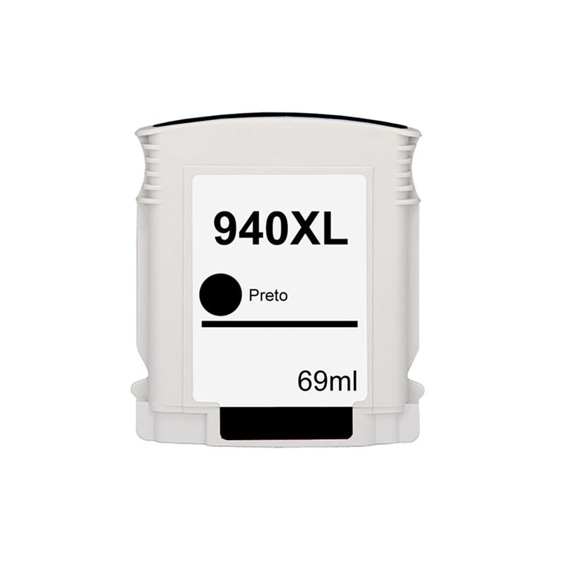 Compativel: Cartucho novasupri Tinta 940XL 940 para HP C4906AB C4906AL Preto 8000 8000WL 8500 8500W 69ml
