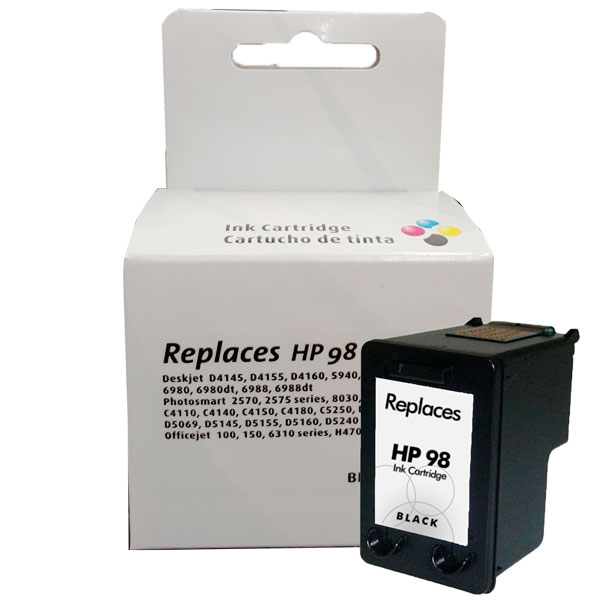 Compativel: Cartucho de tinta novasupri para HP 98 C9364W 15ML Preto