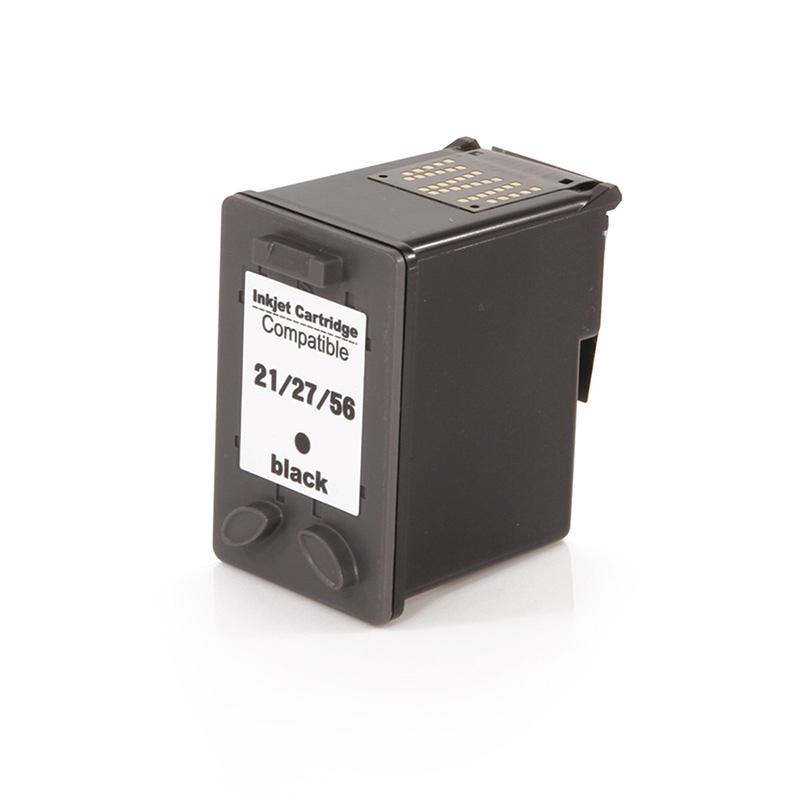 Compativel: Cartucho novasupri Tinta C9351A 21XL 27XL 56XL 19ML Preto - D1341 D1360 D1460 D2320 D2330 para HP