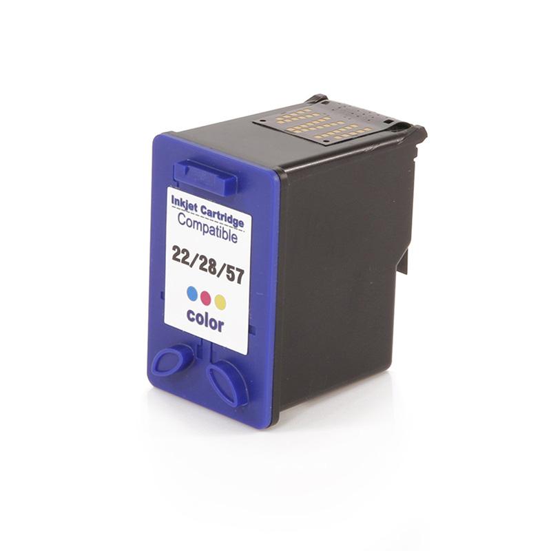 Compativel: Cartucho novasupri Tinta C9352A 22XL 28XL 57XL 12ML Colorido - D1341 D1360 D1368 D1460 para HP