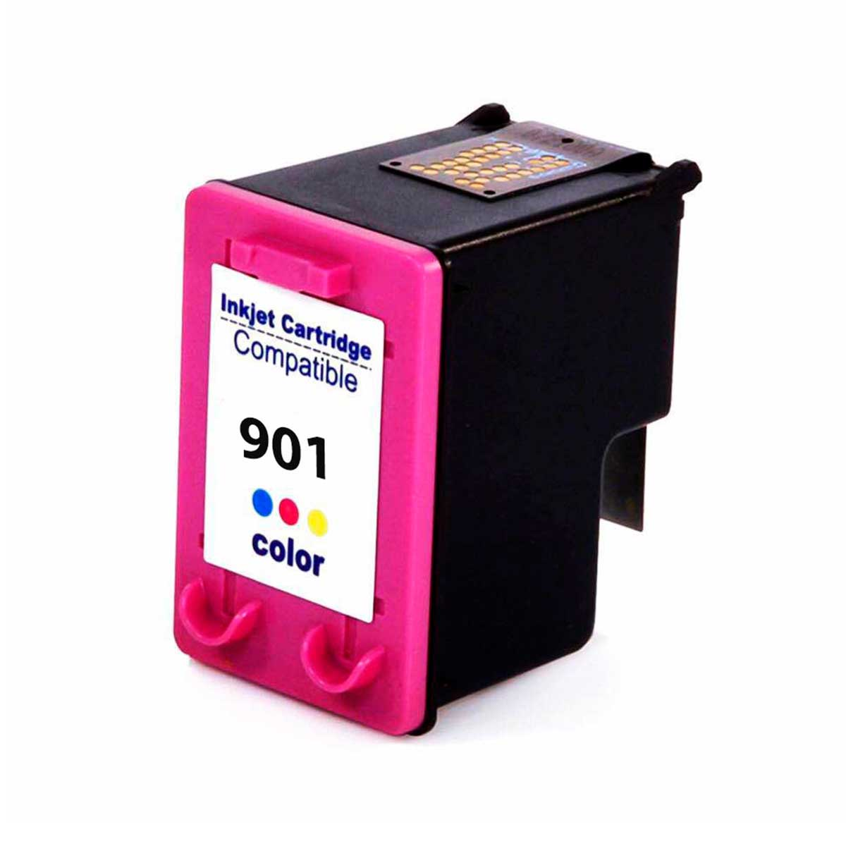 Compativel: Cartucho de tinta nacional para HP 901XL CC656A 14ML Colorido - Officejet J4540 J4550 J4580 J4660