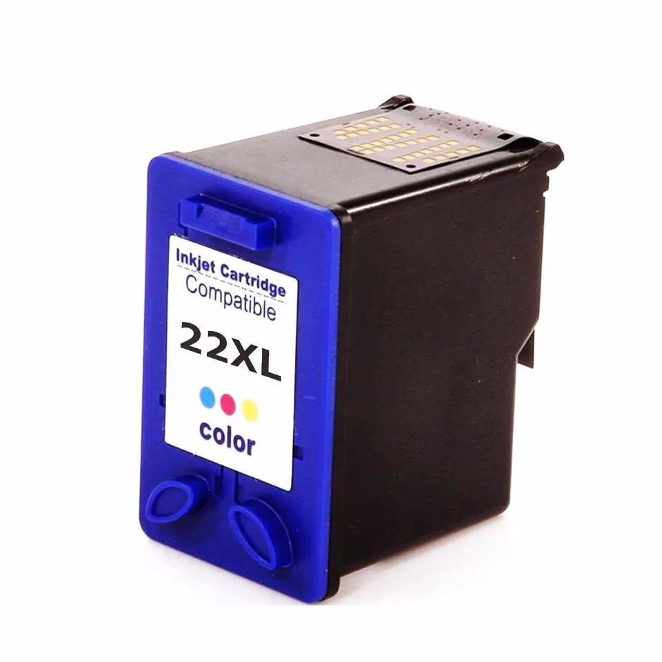 Compatível: Cartucho de tinta nacional para HP C9352A 22XL 28XL 57XL 14ML Colorido - D2460 PSC1402 1403 1410 1210