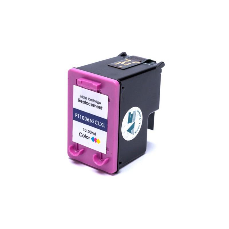 Compativel: Cartucho de tinta Nacional para HP 662XL CZ106A 10ML Colorido - Deskjet 3546