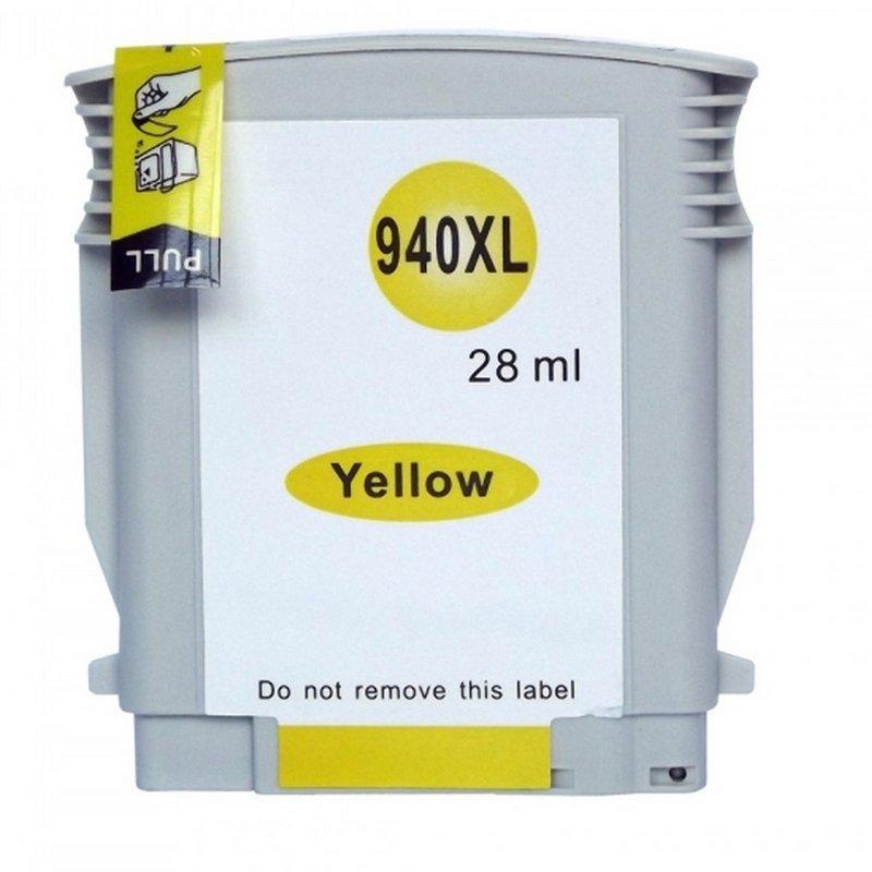 Compativel: Cartucho nacional Tinta 940XL 940 para HP C4909AL Amarelo 8500 8000 8500W 8000WL 28ml