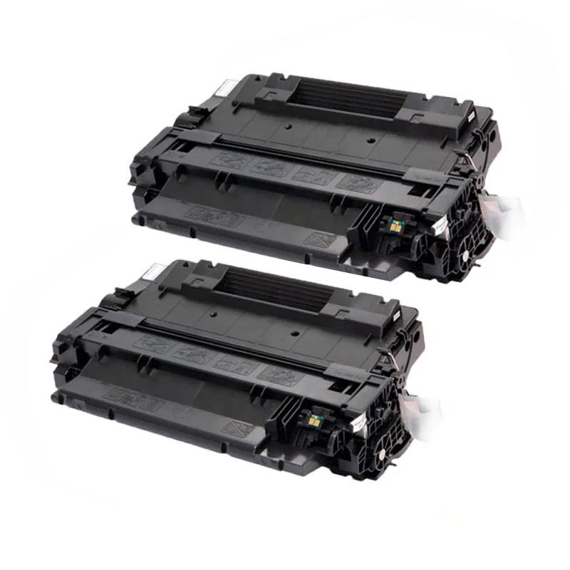 Compatível: Kit 2 Toner CE255A 55A 500 M525F para HP P3015DN P3015X P3015N P3016 P3015