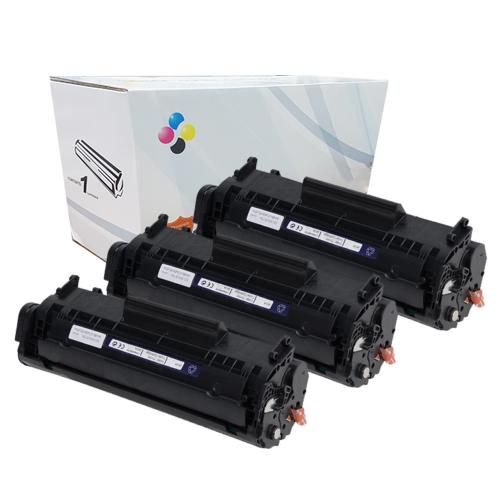 Compatível: Kit 3 Toner CF283A M125 M201 M225 M226 M202 M127FN M127FW