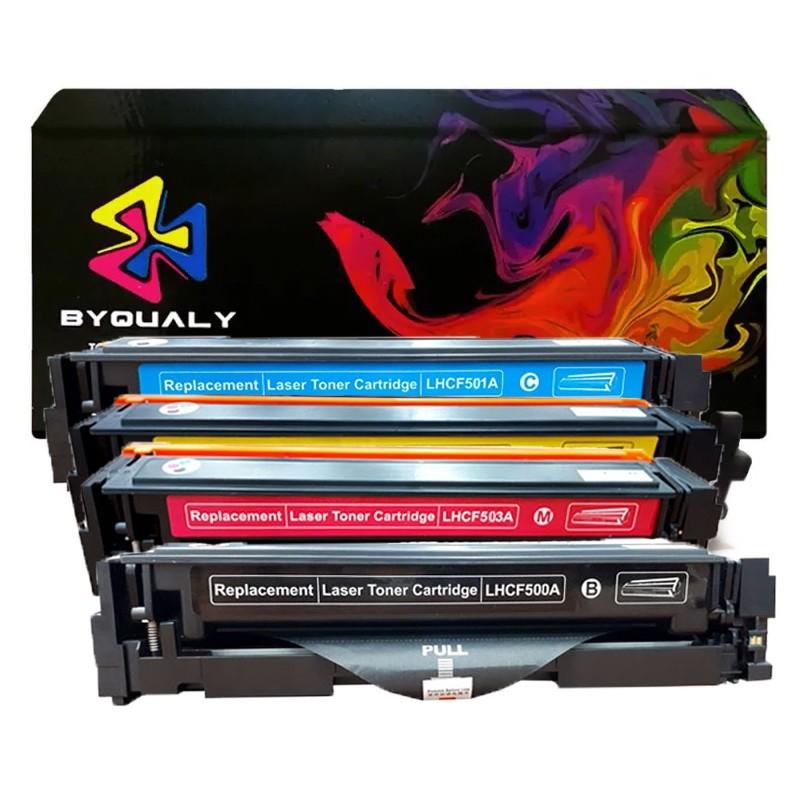 Compativel: Kit 4 Toner CF500 CF500A 501 502 503 para HP M254 M280 M281 M281FDW M254DW CMYK