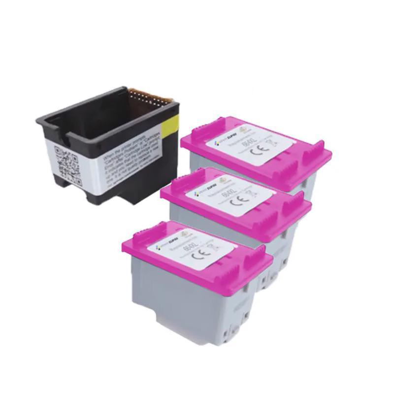 Compatível: Kit Cartucho novasupri Tinta 664xl para HP 1115 2136 3636 3836 3536 4676 com 3 Refis ECO SAVER 16,6ml Colorido