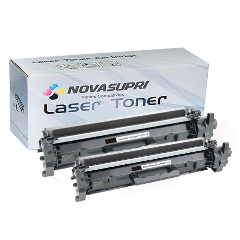 Compatível: Kit com 2 Toner Novasupri para HP CF217A CF217 17A M102 M102A M102W M130 M130FW